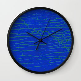 Stone electric blue Wall Clock
