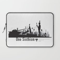 One Sixth Ism (Black World) Laptop Sleeve