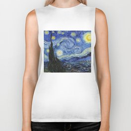 Starry Night by Vincent Van Gogh Biker Tank