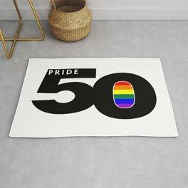 50 Pride LGBTQ Pride Flag Rug