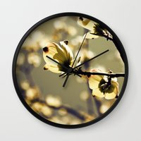 magical girl Wall Clocks featuring Magical Dogwood by Tracey Krick Photography