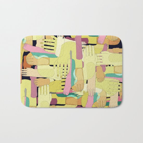 hands and foots Bath Mat