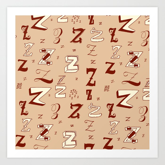 Letter Patterns, Part Z Art Print