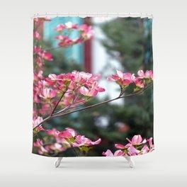 Pink Dogwood Shower Curtain
