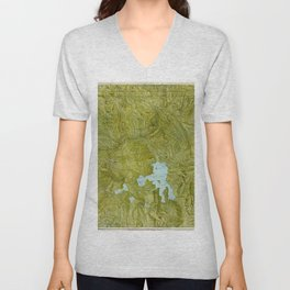 Map of Yellowstone 1898 Unisex V-Neck