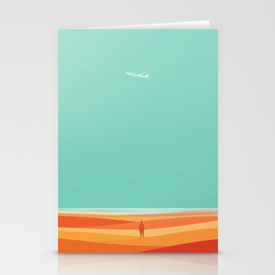 Where the sea meets the sky Stationery Cards