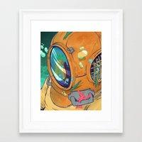 bikini Framed Art Prints featuring Bikini Bottom by TheNazzaro