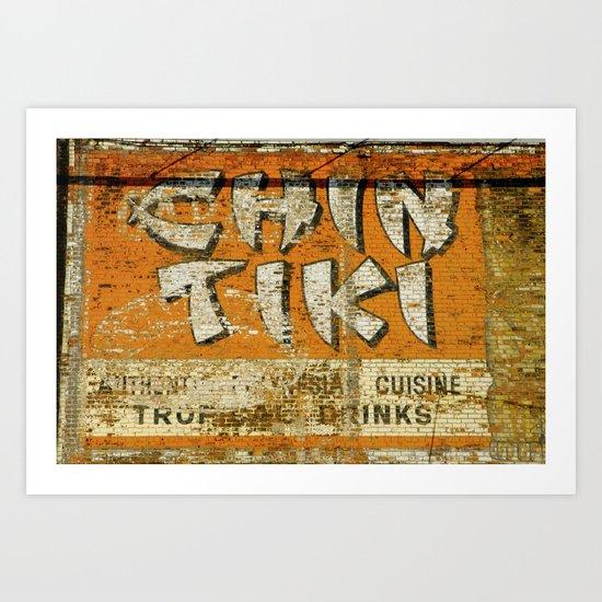 Chin Tiki Wall  Art Print