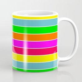 Neon Hawaiian Rainbow Horizontal Deck Chair Stripes Coffee Mug