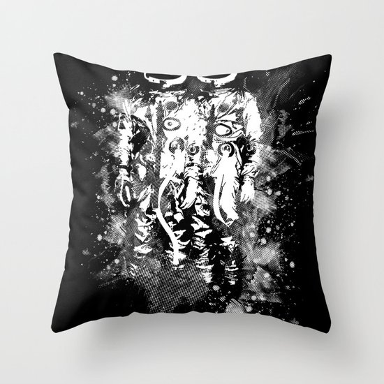 Space Twins Throw Pillow