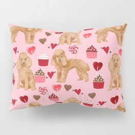 Toy Poodle apricot love cupcakes valentines day hearts dog breed pet portrait dog breeds poodles Pillow Sham