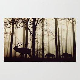 Forest night deer Rug