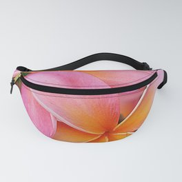 Tropical Hawaiian Plumerias Popping in Pink Fanny Pack