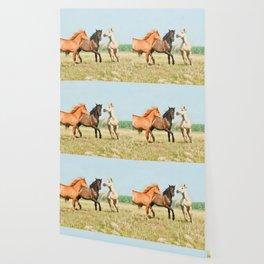 Three horses watercolor painting #3 Wallpaper