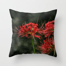 Red Spider Lily. Throw Pillow