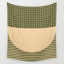 Geometric Spring Abstract - Pantone Warm color Wall Tapestry