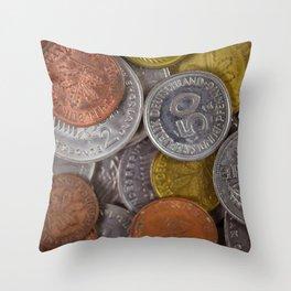 Germany - Deutschmark Old Coins Throw Pillow