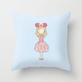 Sleeping Fan Girl - Pink Throw Pillow