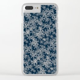 Deep Blue Snow Clear iPhone Case