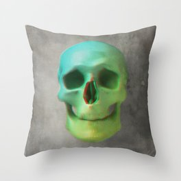 Anaglyph // Skull Throw Pillow