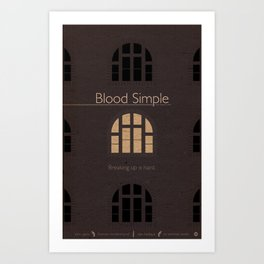 Film Friday No. 1, Blood Simple Art Print