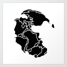 Pangaea Continent Art Print