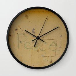 Peace Grafitti Wall Clock