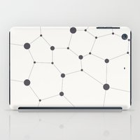 hexagon iPad Cases featuring Hexagon grid by fortyfive