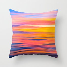 Sunset On The Sea of Cortez - Rocky Point Throw Pillow