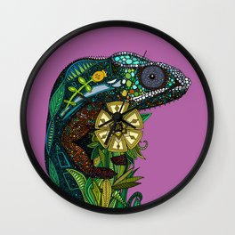 chameleon orchid Wall Clock