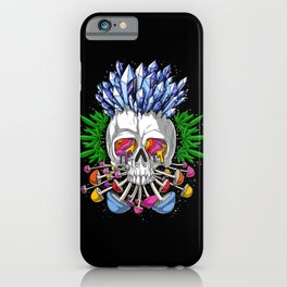 Psychedelic Skull iPhone Case