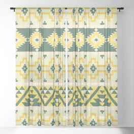 Indian pattern 15 Sheer Curtain