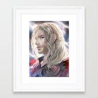 thor Framed Art Prints featuring Thor by Lüleiya
