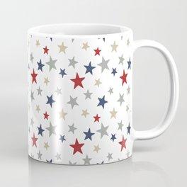 Patriotic Stars Red White Blue Repeating Pattern Vector Coffee Mug