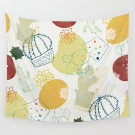 mid century cactus Wall Tapestry