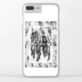 4 heroes Clear iPhone Case