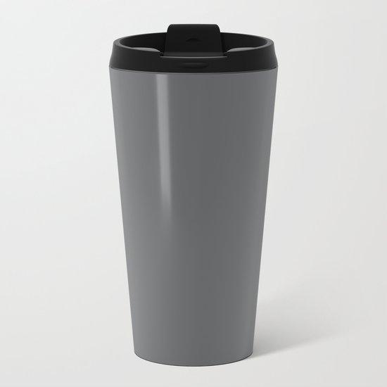 Simply Storm Gray Metal Travel Mug
