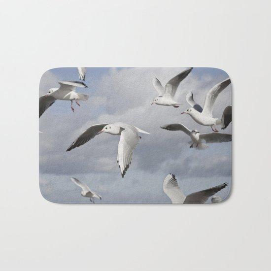 Flying Seagulls Bath Mat