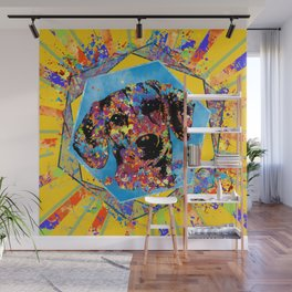 Dachshund dog  - Doxie Abstract Mixed Media Wall Mural