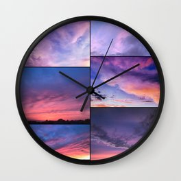Purple Skies Sunset Collection Wall Clock