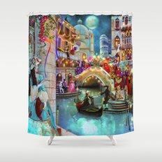Carnival Moon Shower Curtain