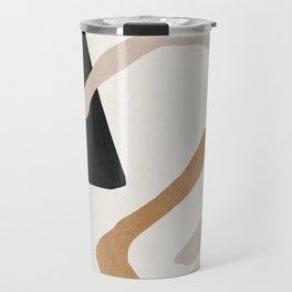 Abstract shapes art, Mid century modern art Travel Mug