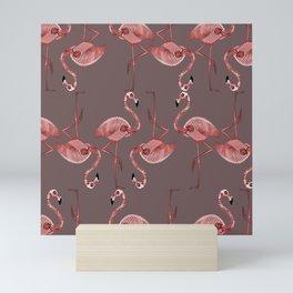 Flamingo pattern Mini Art Print