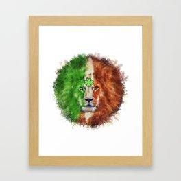 St. Patrick's Day Irish Lion Framed Art Print