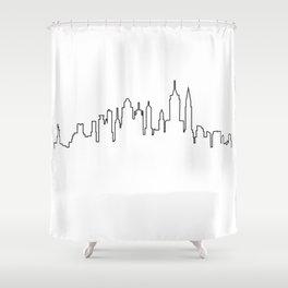 New York City Skyline Silhouette Shower Curtain
