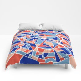 Paris Mosaic Map Comforters