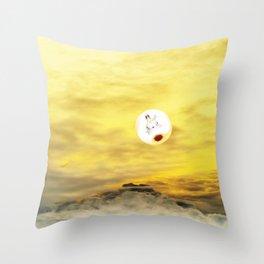 Time Rabbit and Magic Mountain Throw Pillow