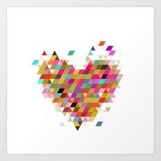 Heart1 White Art Print