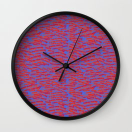red on blue money Wall Clock