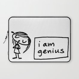 i am genius Laptop Sleeve